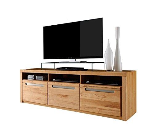 trendteam ZO32065 TV Möbel Lowboard, BxHxT 178 x 59 x 50 cm, Korpus Kernbuche Nachbildung und Fronten in Kernbuche massiv