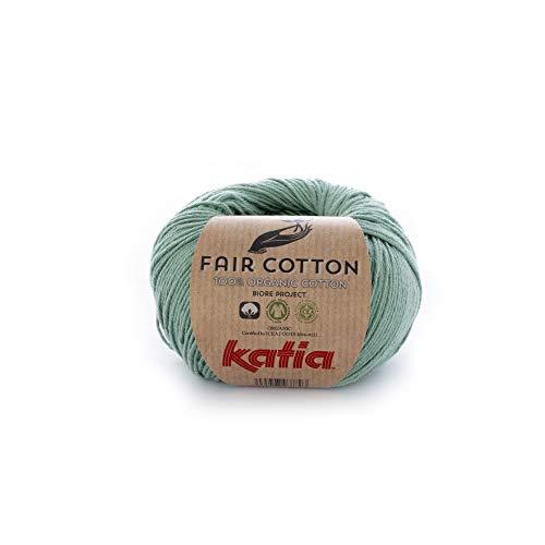 Katia Fair Cotton Fb. 17 - verde menta, Baumwollgarn, organische Baumwolle, Biobaumwolle zum Stricken und Häkeln