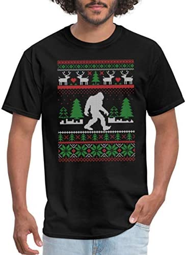 Spreadshirt Sasquatch Ugly Christmas Sweater Men s T Shirt 5XL Black product image