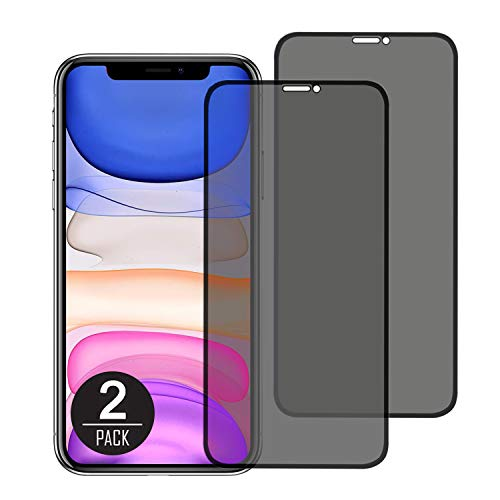 Privacy Screen Protector for iPhone 11 Pro 2019/iPhone Xs/iPhone X (5.8inch),Full Coverage Privacy Tempered Glass [Case Friendly] [Advanced Clarity] (2-Pack)