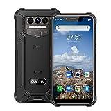 Oukitel WP9 Rugged Smart Phone Unlocked,8000mAh Battery,6GB+128GB Android10 Rugged Phones,5.86 Inch IP68 Waterproof Shockproof Cell Phone 16MP Triple Camera, Mediatek P60,GPS,NFC Dual SIM 4G(Black