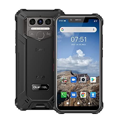 OUKITEL WP9 Téléphone Portable Incassable, Octa-Core 6GO RAM+128GOROM Smartphone Antichoc Étanche, Grande Batterie 8000mAh, Écran 5.86'' HD+, Triple Caméras 16MP+8MP, Android 10,Dual SIM 4G,NFC GPS