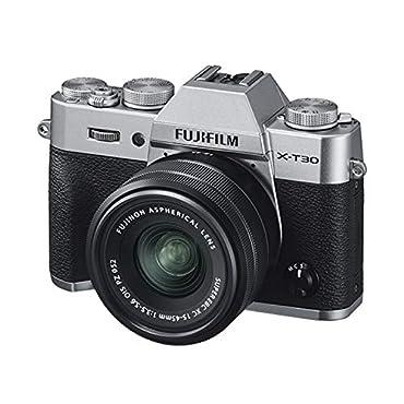 Fujifilm X-T30 Mirrorless Digital Camera with 15-45mm Lens Kit Silver 16619061