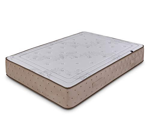Dormidán - Colchón Compuesto de Lana y algodón Natural, Tejido Stretch y Terciopelo, Oxycell Medida 135 x 190 cm