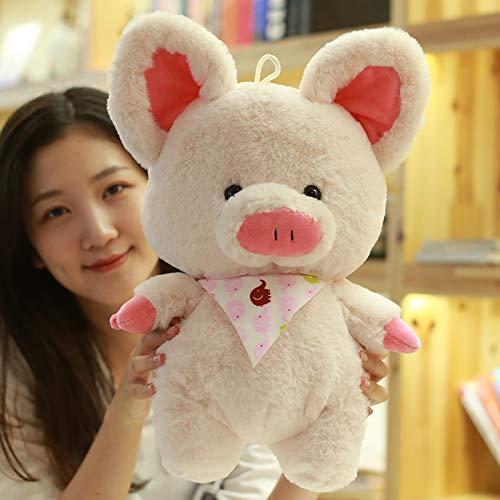 DONGER Niedliche Wassermelone Kissen Puppe Faul Puppe Schwein Spielzeug Mädchen Umarmung Schlaf Groß, [Rosa] Schal Schwein, 80 cm
