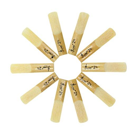 HEALLILY 10 stücke 2,5 2-1/2 bambussaxophon schilf sax zubehör (Alto)