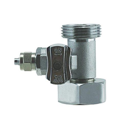 T-Stück 3/4x3/4x1/4' Wasserschlauch (6,35mm) Anschluß m. Absperrventil (1)