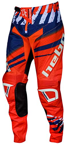 HEBO Stratos Pantalón Enduro-Cross, Adultos Unisex, Naranja, Small