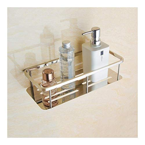 HLL Estante para carrito de ducha Estantes de ducha Estante de baño montado en la pared Organizador cuadrado de baño de acero inoxidable 304 para estante de almacenamiento de cocina 30~60Cm