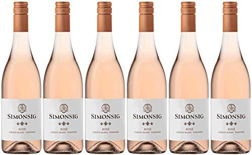 Simonsig Chenin Blanc Pinotage Rosé 2020 Weinpaket | Rosé Wein aus Südafrika (6 x 0.75l) | Trocken | Weine für jeden Geschmack von CAPREO