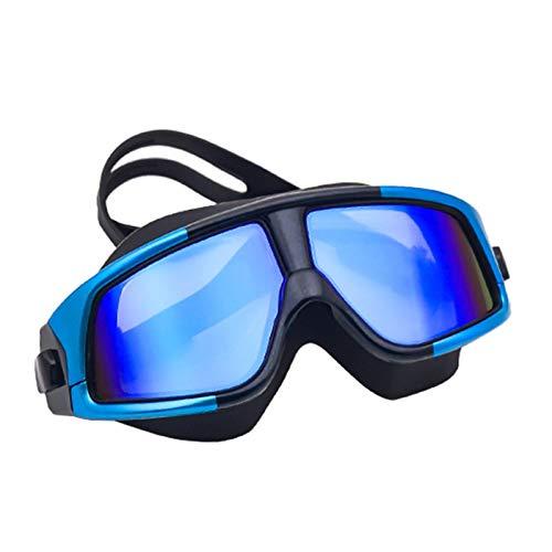 Vigcebit Gafas de buceo, protección UV, para adultos, antivaho, HD, con correa de silicona suave y ajustable