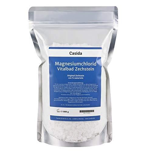 Magnesiumchlorid Vitalbad 1000 g - Original Zechstein Mineral - rein natürliches Magnesiumchlorid Hexahydrat zum Baden bzw. Fußbad - für Magnesiumöl geeignet