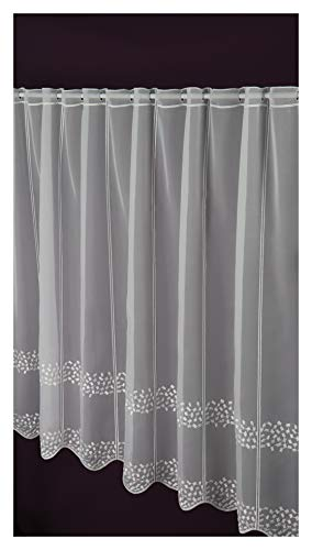 Visillo a medida, panel de láminas de 90 cm de altura, ancho de la cortina a elegir en 10 pasos