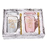 30th Anniversary Mugs for Parents Wedding Anniversary Mugs for Couple Husband Wife Perfect Mug for 30th Anniversary Couple Marble Coffee Mug Set 14 Oz with Coaster Spoon Box