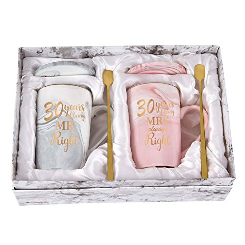 30th Anniversary Mugs for Parents Wedding Anniversary Mugs for Couple...