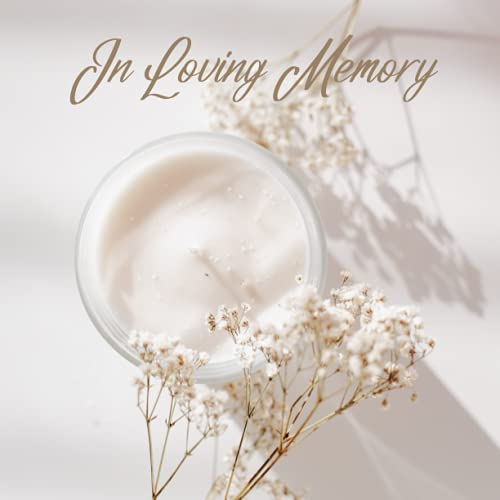 Guest Book: White and Gold Funeral Guest Book, Memorial Service Guest Book, Registration Book For Funeral, In Loving Memory, White Candles Gold Cover Design
