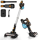 INSE Cordless Vacuum Cleaner 23KPa Powerful Suction with 250W Digital Motor, Handheld Stick Vacume Lightweight Quiet Rechargeable 2500mAh for Hardwood Floor Carpet Pet Hair Car - S600