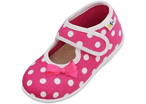 3f freedom for feet- Babyschoenen voor Kleine Misjes - 1-3 jaar Peuter Pasgeboren Schoenen met Klittenbandsluiting en Lederen Binnenzool met Actieve Kool - Roze, Blauw, Stippen, Harten, Muizen - 19-25 EU