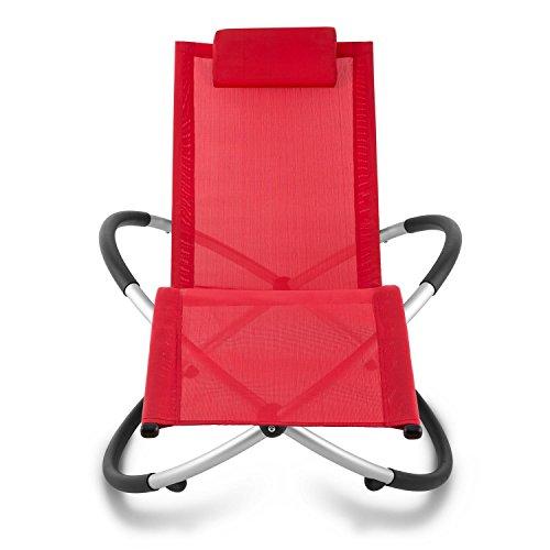 blumfeldt Chilly Billy ergonomische Relaxliege Liegestuhl Gartenstuhl Klappstuhl (Liege, 180 kg maximale Belastung, atmungsaktiv, witterungsbeständig, pflegeleicht, faltbar) rot - 2