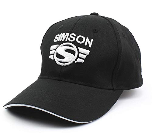 BISOMO Simson Base Cap schwarz mit Logo in Silber gestickt