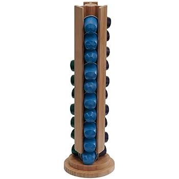 Dispensador torre madera 30 capsulas nespresso c12: Amazon.es: Hogar