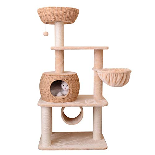 jixi Kratzbaum für Katzen, Kratzbäume, Katzentürme, Kratzbaum, Spielzeuge, mehrstufige Haus-Kratzbaum