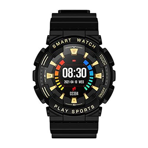 Reloj Inteligente W50 para Hombre, Monitor de Ritmo cardíaco, monitorización del sueño, Reloj Inteligente a Prueba de Agua, Control Remoto de la cámara - Oro Negro
