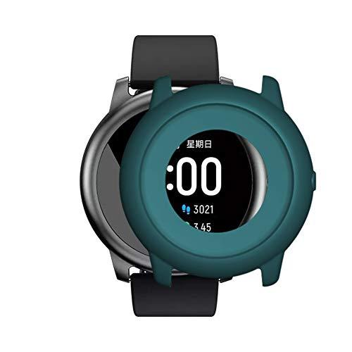 Cricia Funda Protectora de Reloj, Compatible con Xiaomi Haylou Solar Silicone Film All-Around Funda Protectora de Parachoques