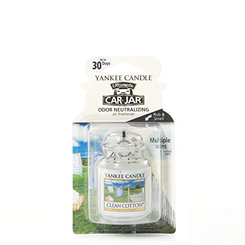 Yankee Candle Autoduft Car Jar Ultimate, bis zu 4 Wochen Duft, Clean Cotton