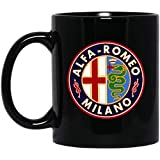 Antique Alfa, Romeo Classic Car Sign Mug, Family Ceramic Coffee Mugs Saying White 11Oz