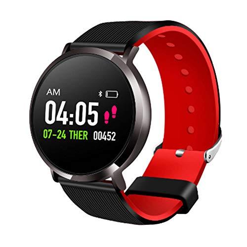 LTLGHY Smartwatch, Reloj Inteligente Impermeable IP68 Pulsera De Actividad Inteligente con Monitor De Sueño Contador De Caloría Pulsómetros Podómetro para Hombre Mujer,Negro