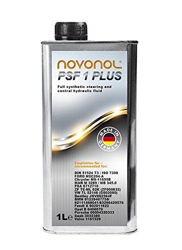 NOVONOL PSF 1l PSF Hydrauliköl Servo Öl Lenkflüssigkeit wie PENTOSIN CHF 11S 1 Plus Öl für Zentral-Hydraulische Systeme. Niveauregelung Dämpfung hydropneumatische Federung. BMW VW Mercedes OPEL