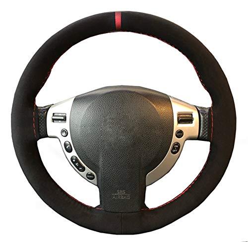 WENIHDJKA DIY Geflecht Wildleder Mantel Lenkradbezug Zubehör für Nissan X-Trail T31 Qashqai J10 J11 für VW Jetta MK5 MK6 Polo