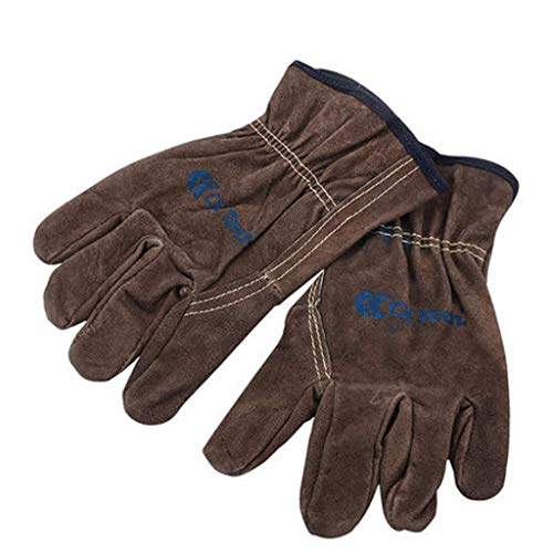 MJY Handschuh, Handschuhe, Fäustling, Carbon Kaffee Farbe Lederhandschuhe Mechanikerhandschuhe Schweißen Arbeitskleidung sowie Leder Arbeitsschutz Industriehandschuhe