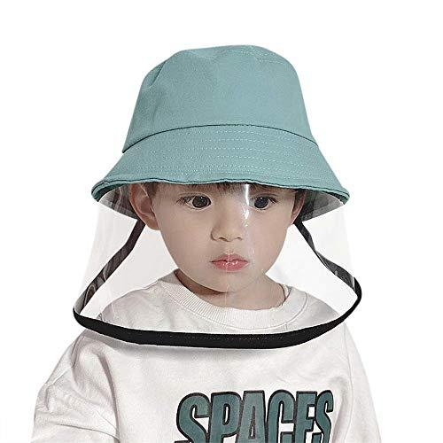 General Visiera Protettiva per Bambini, Cappellino per Bambini Antipolvere Cappello Anti Inquinamento Copertura Antipolvere Protettiva Riutilizzabile per Il Viso,B