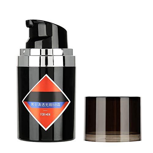 BB Cream da uomo, correttore idratante per fondotinta Trucco cosmetico per uomo 50g con correttore di controllo dell'olio ad effetto schiarente(Naturale)