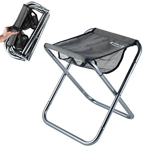 Hodeacc Kleiner tragbarer Klapphocker, Mini Outdoor Camping Klappstühle,zusammenklappbarer Campinghocker Leichtgewicht für Camping,Angeln,Picknick,Reisen und Wandern
