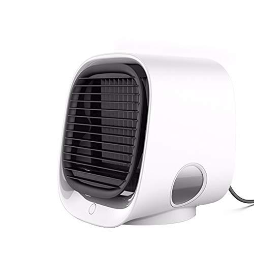 HSTD Ventilador Portátil, Mini Aire Acondicionado De Iones Negativos, Ventilador De Enfriamiento, Humidificación Y Refrigeración, Luz Nocturna, Enfriador De Aire De Escritorio USB Multifuncional
