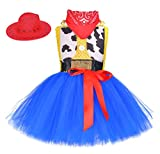 Cowgirl Tutu Dress Woody Costume Pageant Birthday Christmas Holiday Party Toddler Girl Outfit