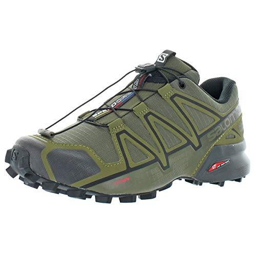Salomon Herren Speedcross 4 Wide, Trailrunning-Schuhe, grün (grape leaf/burnt...