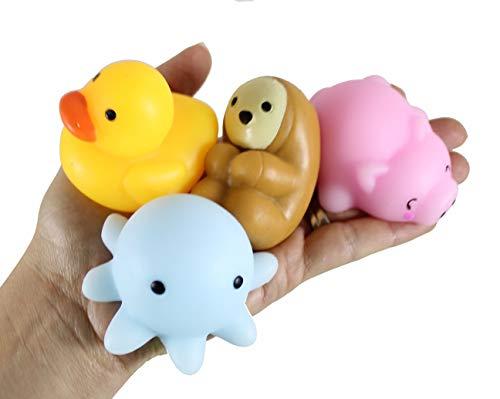 Set of 6 Jumbo Mochi Squishy Animals - Cute Kawaii - Sensory, Stress, Fidget Party Favor Toy (Random Animals)