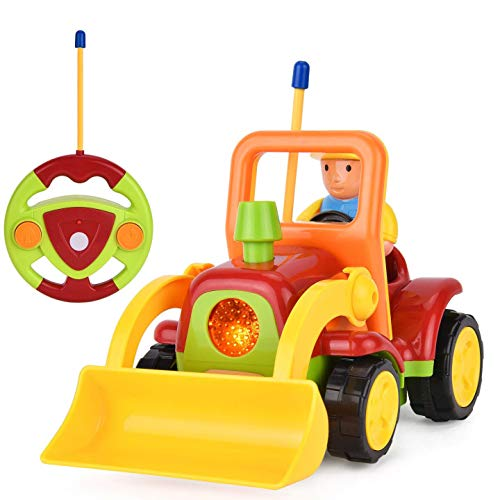 Remote Control Digger Toddler Toys Car-Construction Vehicle Toys with Light...