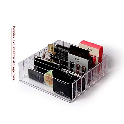 Plástico PS Organizador de Maquillaje Crema Caja de Almacenamiento Claridad Soporte de Maquillaje cosmético Armario de tocador Estante de exhibición de Polvo - 24.23.6.CM, 8