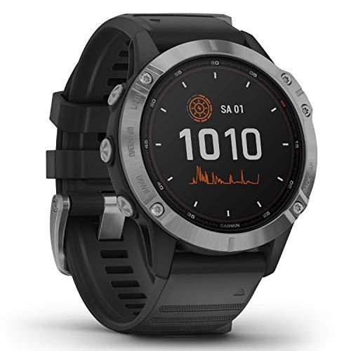 """Garmin fenix 6 Solar – GPS-Multisport-Smartwatch mit Solar-Ladefunktion für bis zu 16 Tage Akku. 1,3"""" Display und viele vorinstallierte Sport-Apps. Mit Garmin Pay, sehr robust, wasserdicht bis 10 ATM"""