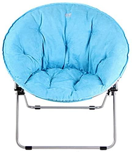 KMILE Sillas plegables para silla Outide ligera y lavable, para adultos, tumbona, sillón, sillón, sillón, silla plegable (color: azul)