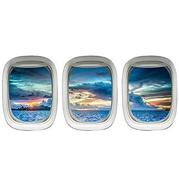 Aircraft Windows - Aviation Wall Decor Plane Window Clings Airplane Decal VWAQ-PPW23