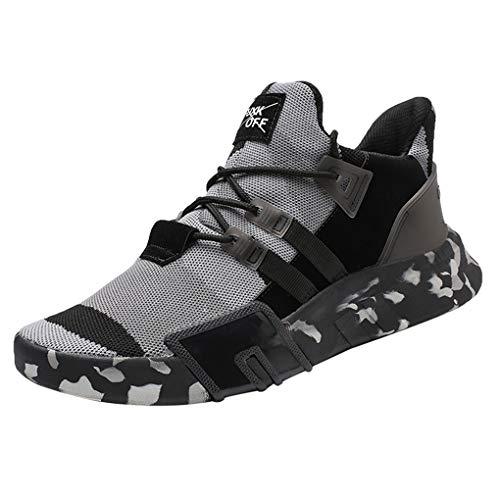 Dorical Laufschuhe Herren Sneakers Sportschuhe Joggingschuhe Turnschuhe Wanderschuhe Freizeitschuhe Air Casual Straßenlaufschuhe rutschfest Bequem Trainers Running Leichte Schuhe(Grau,40 EU)