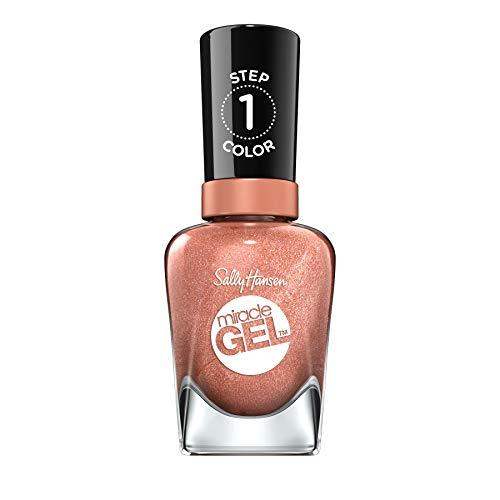 Sally Hansen Miracle Gel Nagellack ohne künstliches UV-Licht Terra-Coppa, braun, mit intensiv glänzendem Gel-Finish, Nr. 660, (1 x 14,7 ml)