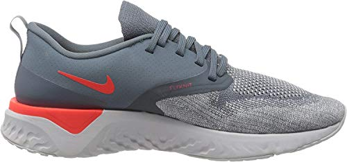 Nike Women's Odyssey React 2 Flyknit Running Shoes (Armory Blue/Bright Crimson, 9.5)
