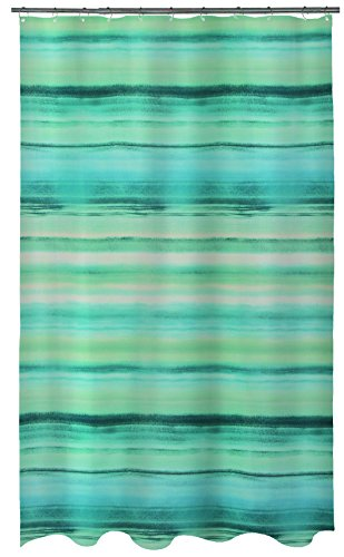 Spirella 10.18474 Textil Ocean Acqua, 180X200 cm Duschvorhang, Polyester, 180 x 200 cm